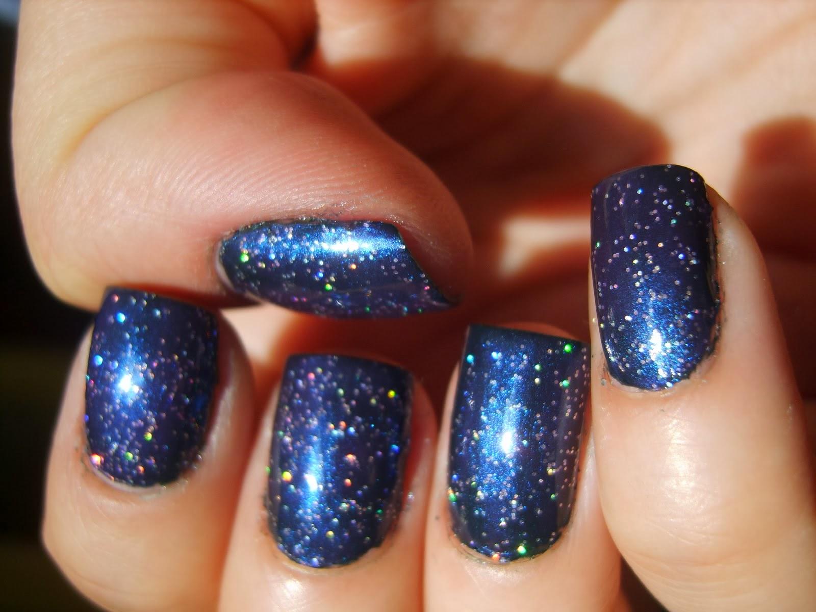 Nail art: Unhas galáxia
