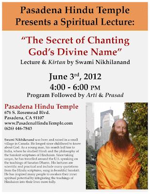 Jagadguru Shree Kripaluji Maharaj's disciple speaking in Pasadena, California