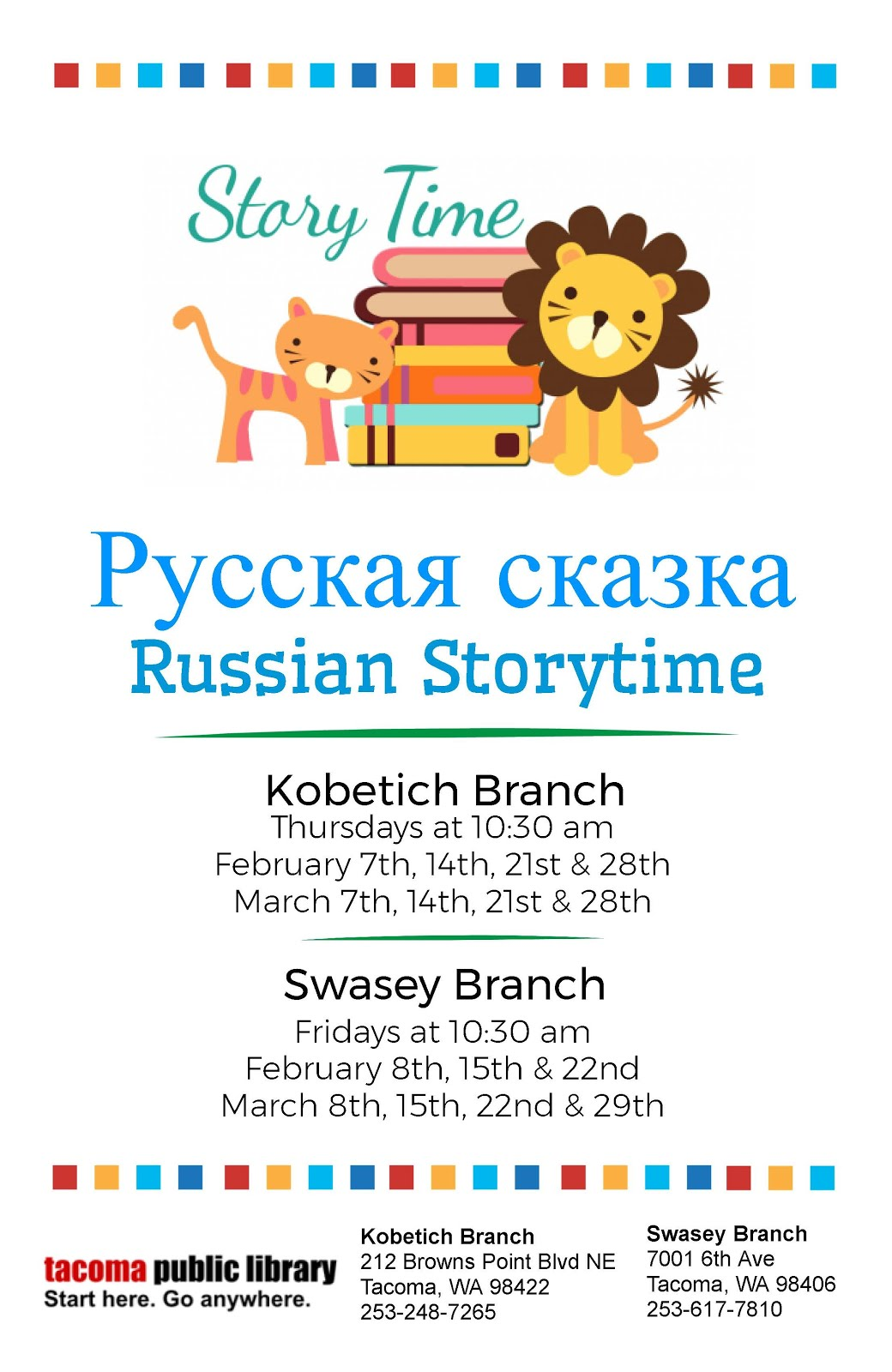 RUSSIAN STORY TIME 2019 IN TACOMA!