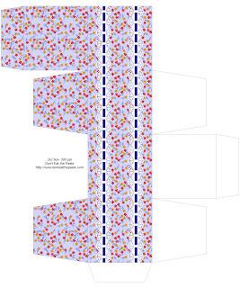 Floral printable box 2