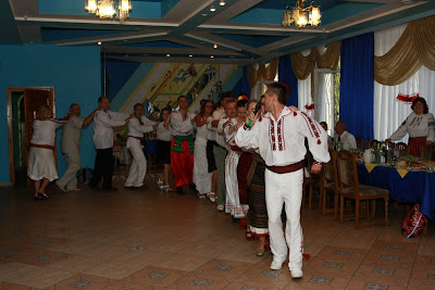Everybody had a good time at Ukrainian wedding!