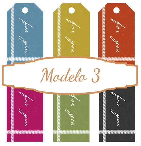 Etiquetas para imprimir modelo 3