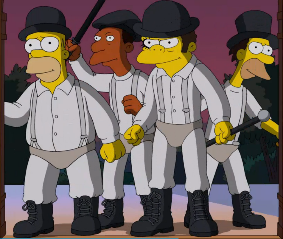 The Simpsons and Stanley Kubrick - Clockwork Orange