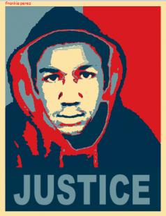 Trayvon Martin Art in Hoodie