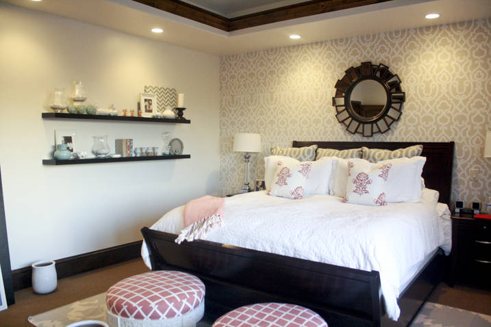 Bedroom Ideas Shelves Above Bed