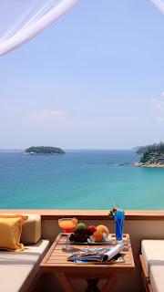 Summer Breakfast Ocean View iPhone 6 Plus HD Wallpaper