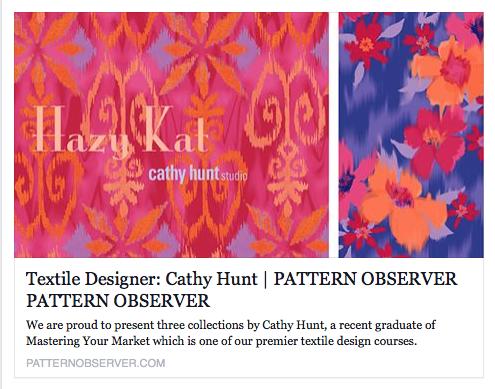 http://patternobserver.com/2014/04/24/textile-designer-cathy-hunt/