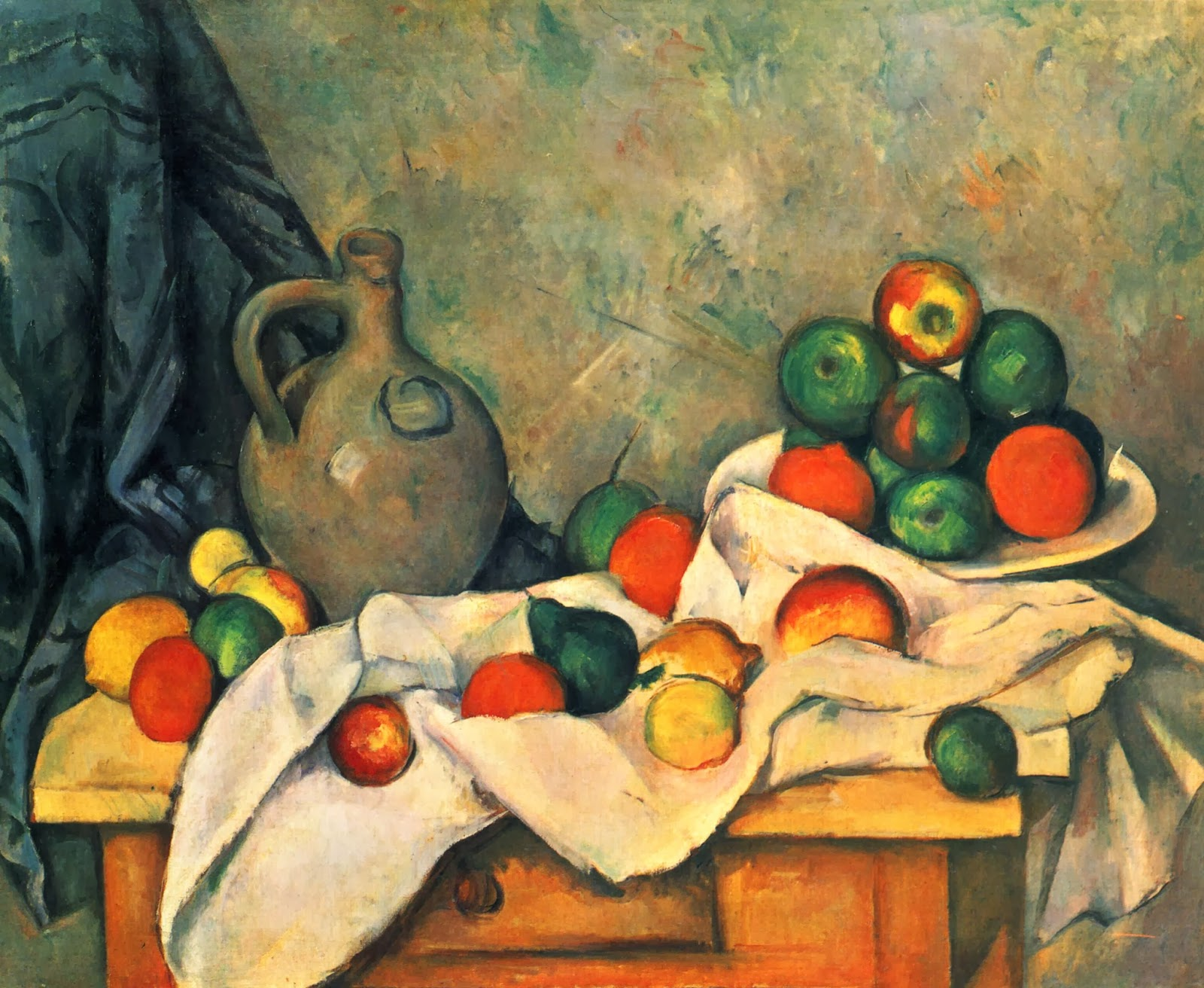 "Picture of ""Rideau Cruchon et Compotier"" by Paul Cezanne, 1894"