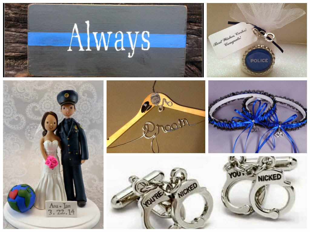 Police Officer Weddings Inspiration Board, curated by Sugarplum Garters