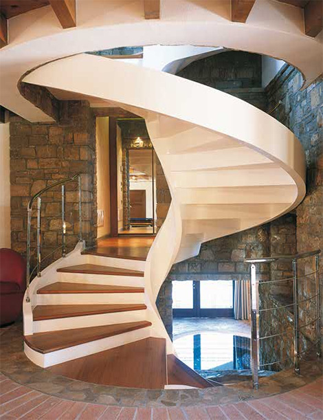 12 gorgeous spiral staircase designs of superb architect for Spiral staircase design plans