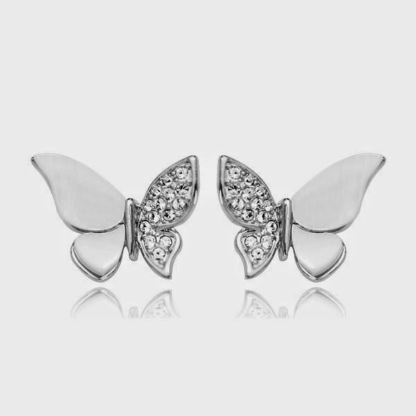 Diamond Earrings For Baby Erfly