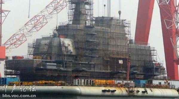 Pembangunan Kapal Induk Pertama China
