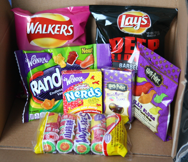 Sugafari Willy Wonka, Walkers, Lays, Harry Potter