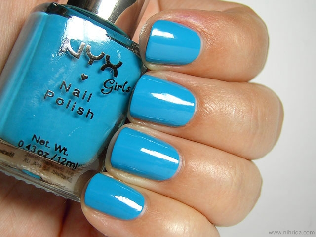 NYX Girls Nail Polish in Hot Blue