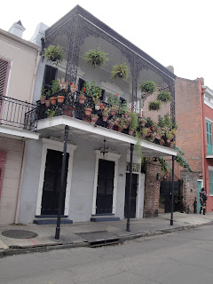 A beautiful balcony in the French Quarter.
