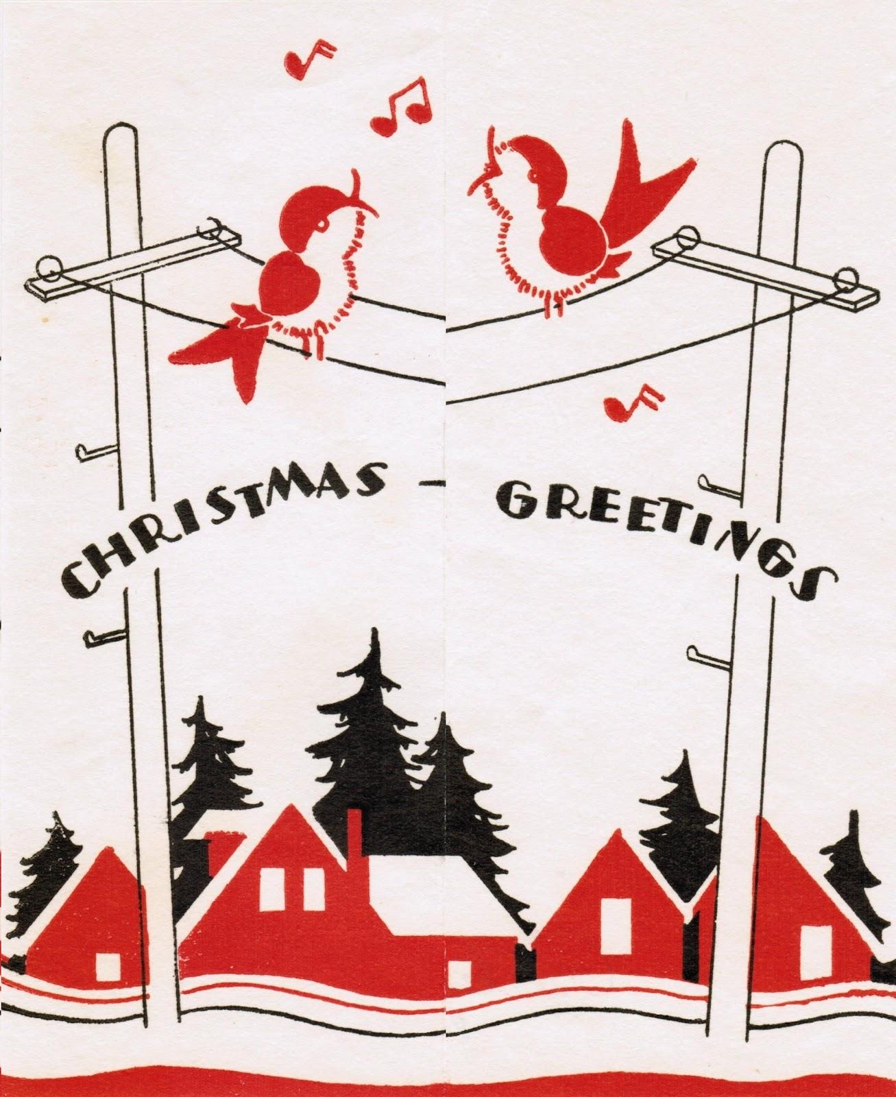Vintage Art Deco Bird Christmas Card | It\'s my cake