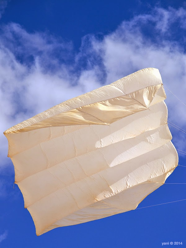 white sail, blue sky
