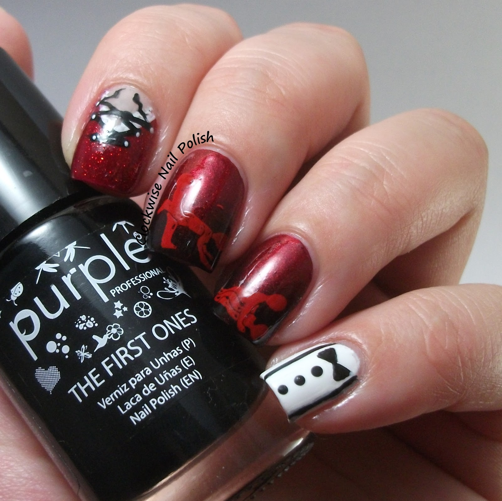 Que Significa Black Nail Polish: The Clockwise Nail Polish: Sexy Romance