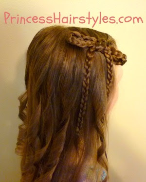 Braided Bow Hairstyle With Curls
