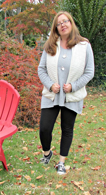 Leggings and a Tunic Styled with an Aventura Vest