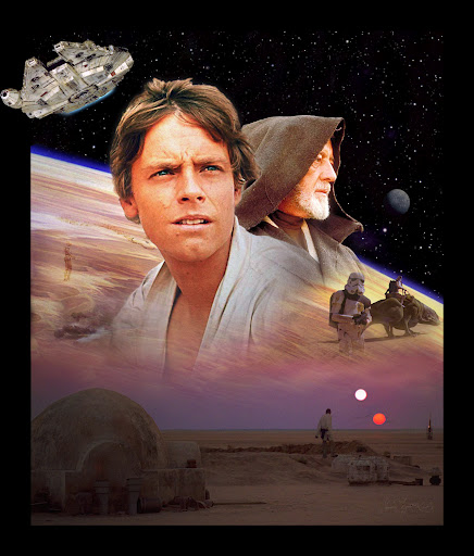 Star Wars A New Hope movie poster High Quality HQ