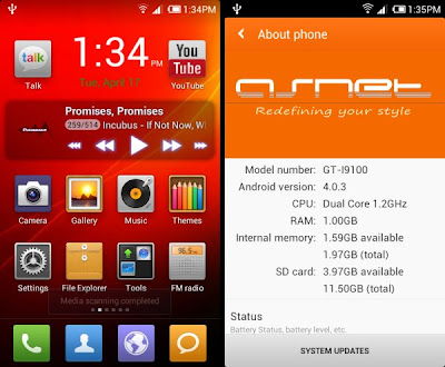Asnet MIUI 4 Samsung Galaxy S2 I9100