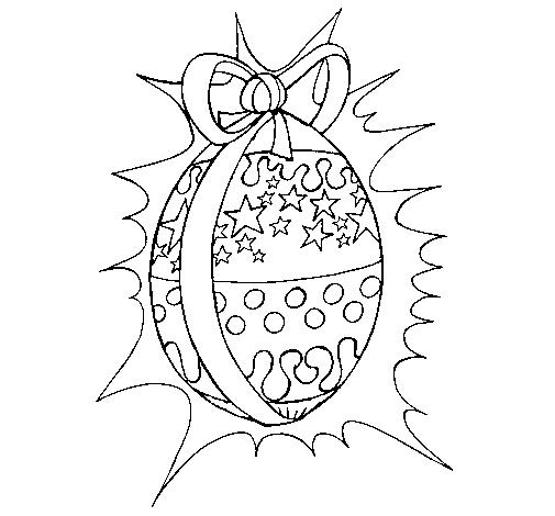 colorir os desenhos Ovos de páscoa com laço