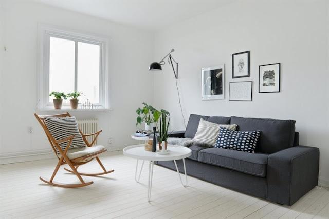 sofa gris franela