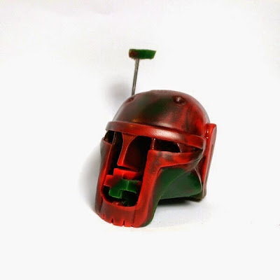 """May the 4th"" Paper + Plastick Boba Fett Resin Star Wars Skull by DuBose Art"
