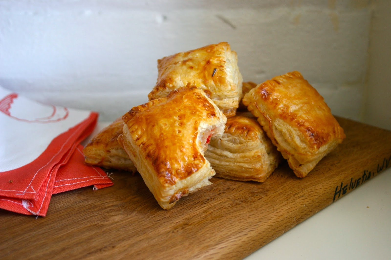 Puff Pastry Hand Pies with Goat Cheese & Hot Pepper Jelly