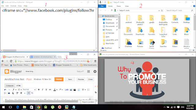 Windows 10 New Shortcuts