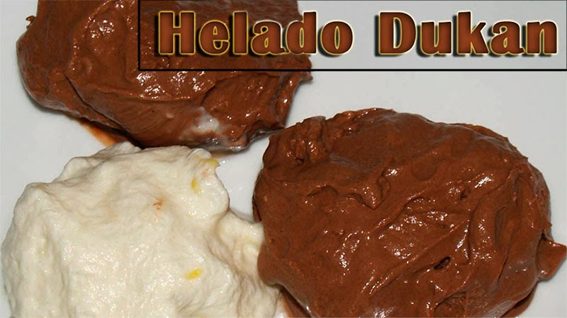 helado de chocolate y limon dukan