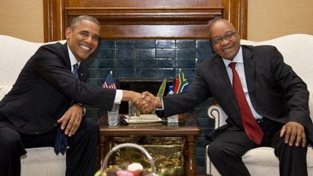 Tổng thống Obama hội đàm với Tổng thống Nam Phi Zacob Zuma