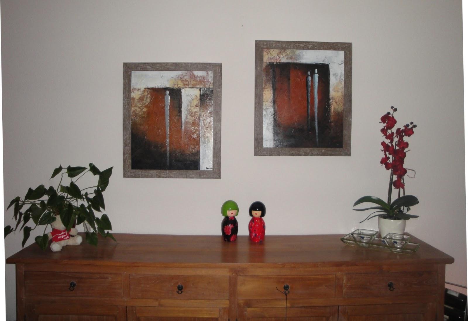 Inrichting Woonkamer Steigerhout : Inlijsten en je interieur lijst van steigerhout om canvas doek