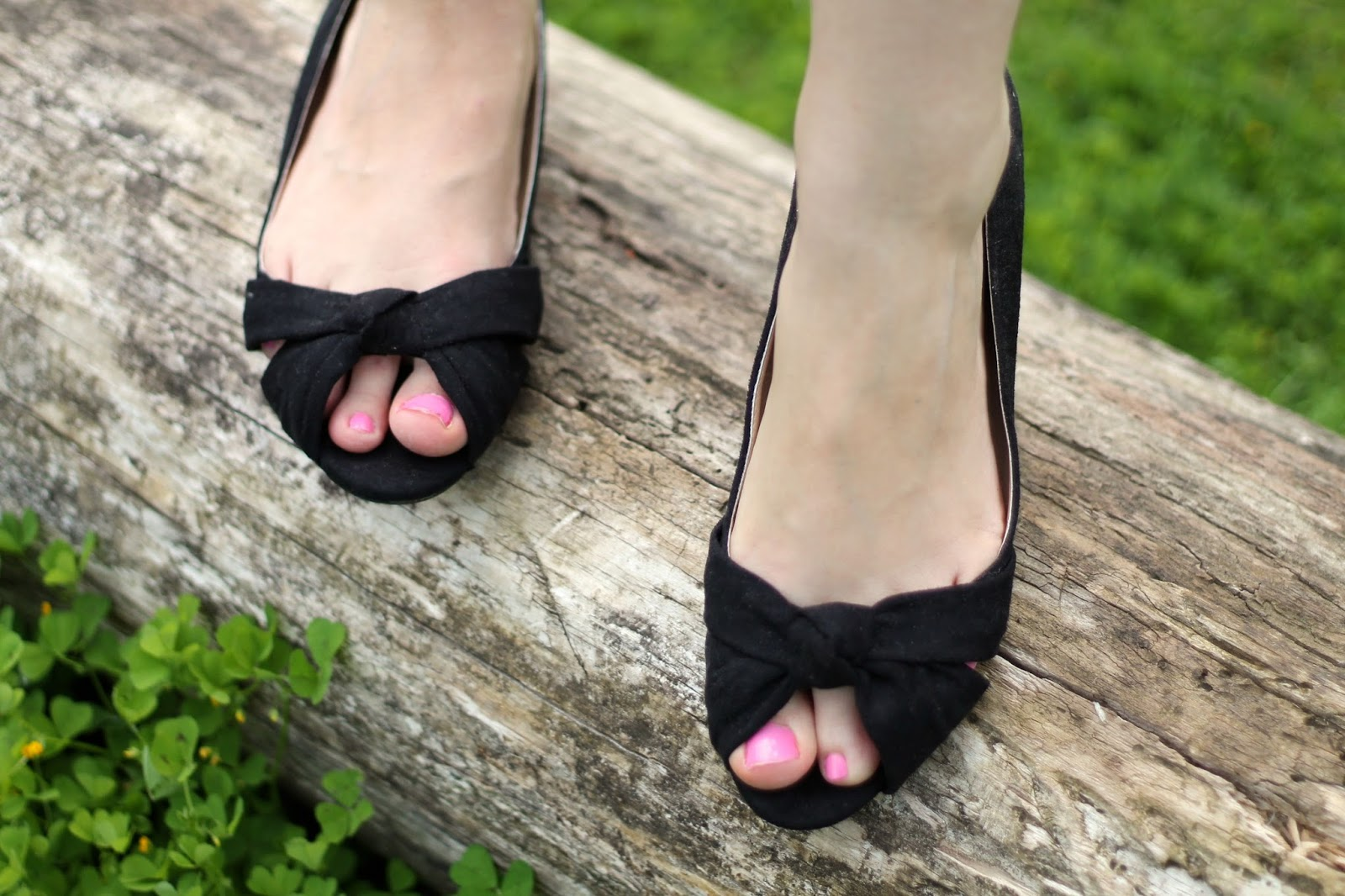 Pin-up ballet pumps