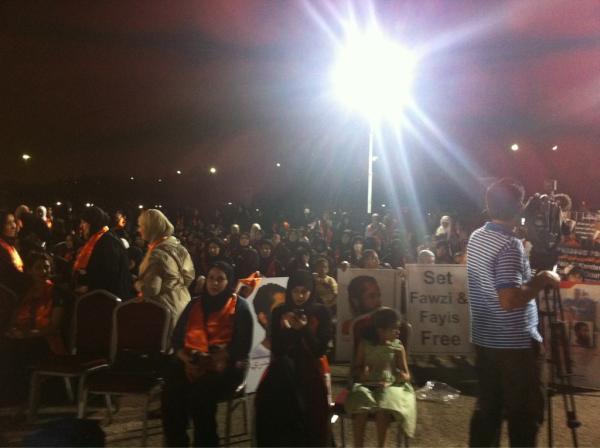 تغطية للاعتصام أمام السفارة الامريكية تضامنا مع معتقلي غوانتنامو 2-5-2012