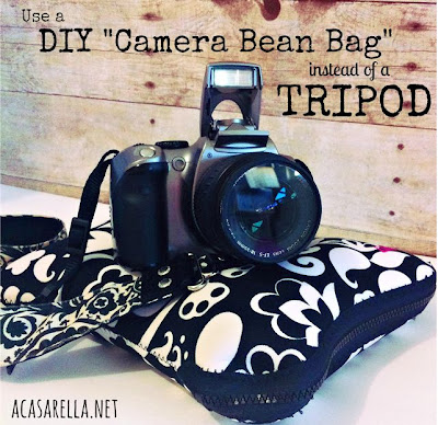 DIY Camera Bean Bag {until you can afford a tripod}