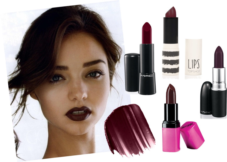 Beauty Trend Dark Berry Purple Lip