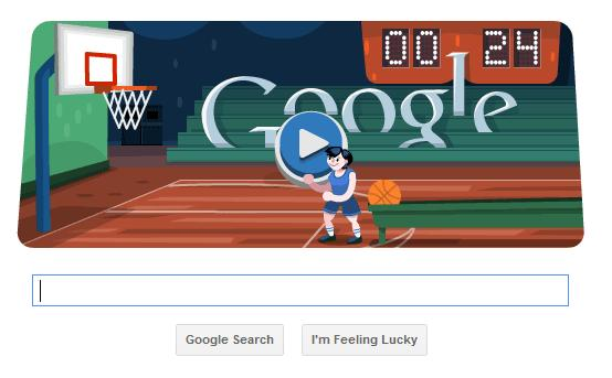 Google Olympics Basketball Doodle