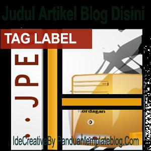 Membuat Dan Menampilkan Tag Label Di Pojok Gambar Artikel Blog