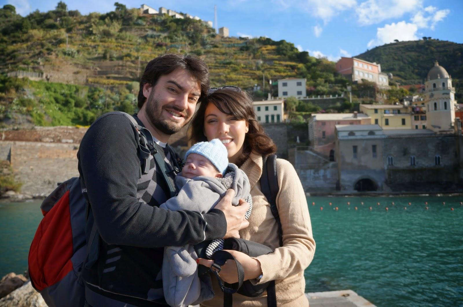 en famille aux Cinque Terre, Italie