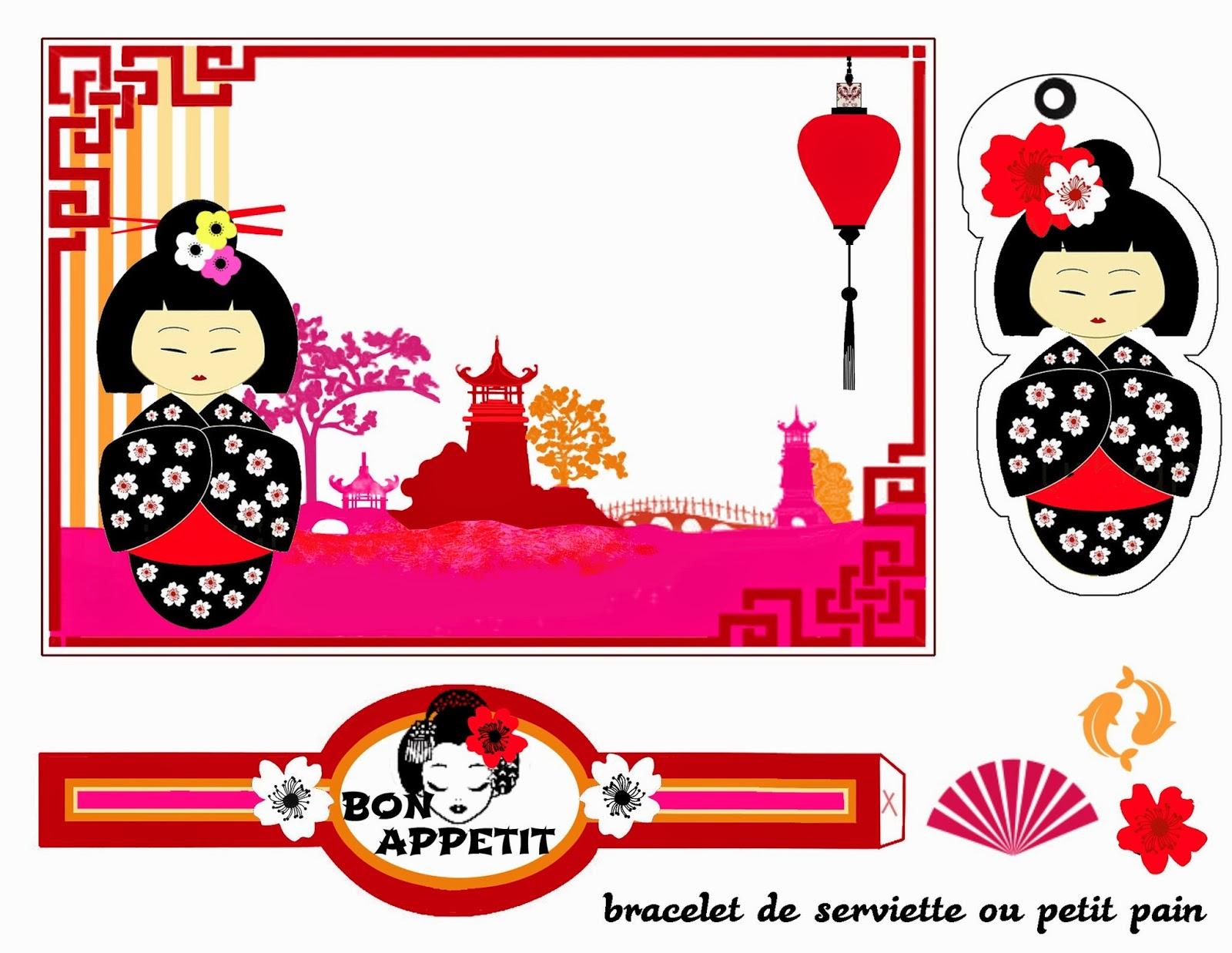 Kokeshi: Free Printable Kit for Birthday. | Oh My Fiesta For Ladies!