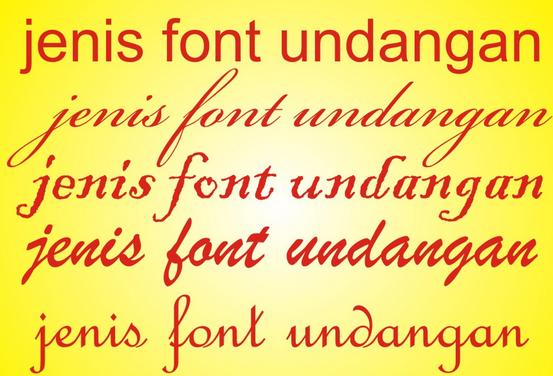 Font untuk Desain Undangan Pernikahan
