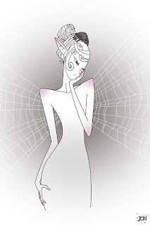 dessinateur illustrateur animateur bande dessinee croquis illustration crayonne animation artist illustrator animator comic book sketch sketches jonathan jon lankry animated fairy fairies spider web aranae