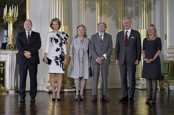Queen Mathilde of Belgium and King Philippe of Belgium attends award ceremony for the Dutch Literature (Prijs der Nederlandse Letteren) at the Brussels Royal palace