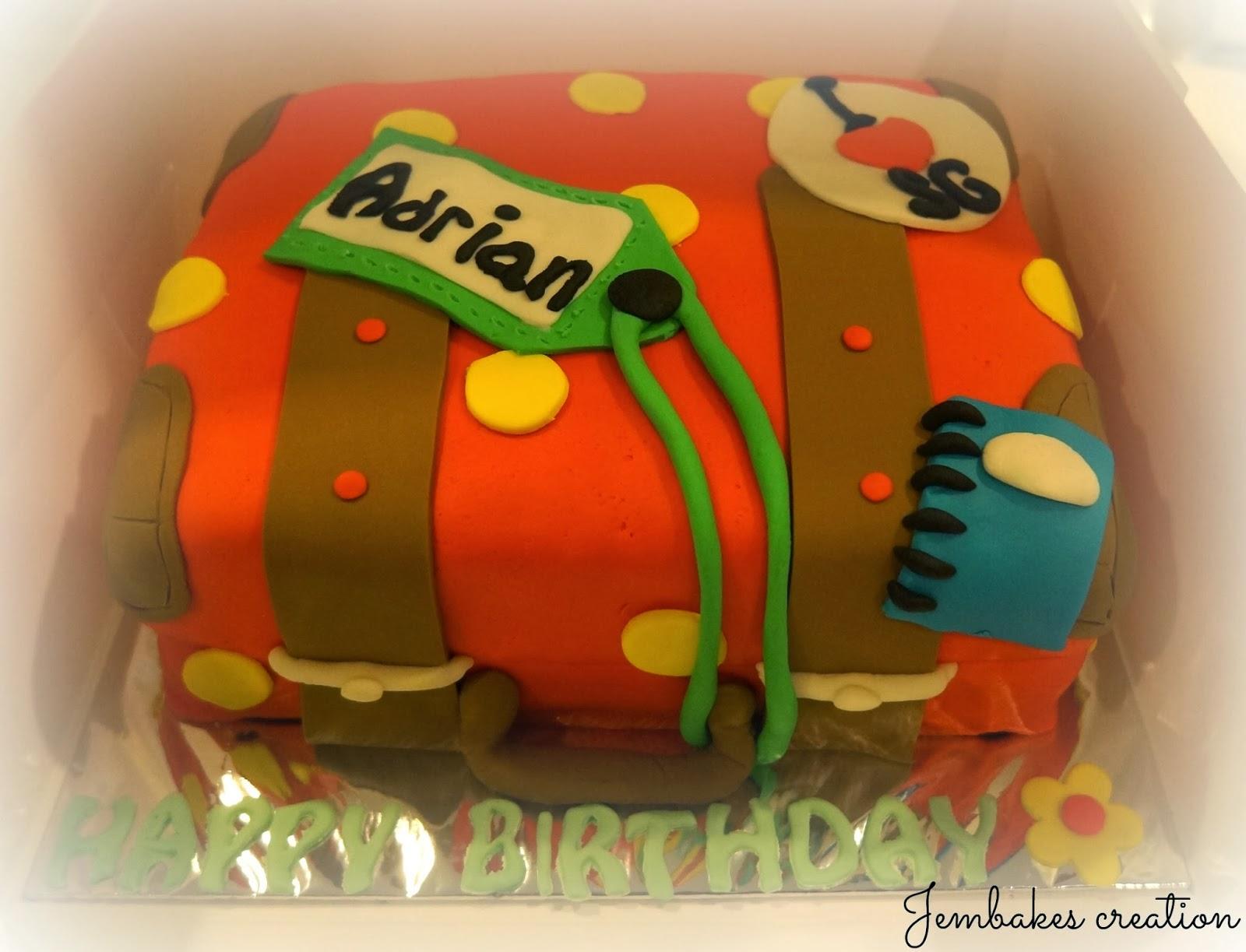 Jembakes Luggage Cake