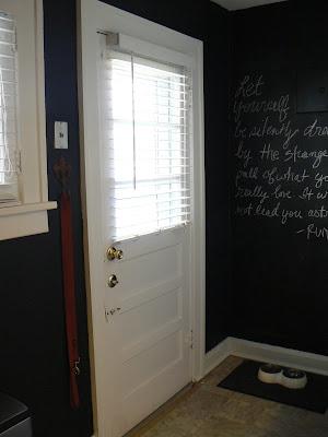 mylittlehousedesign.com kitchen painted black chalkboard walls