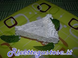cheesecake menta e cioccolato bianco