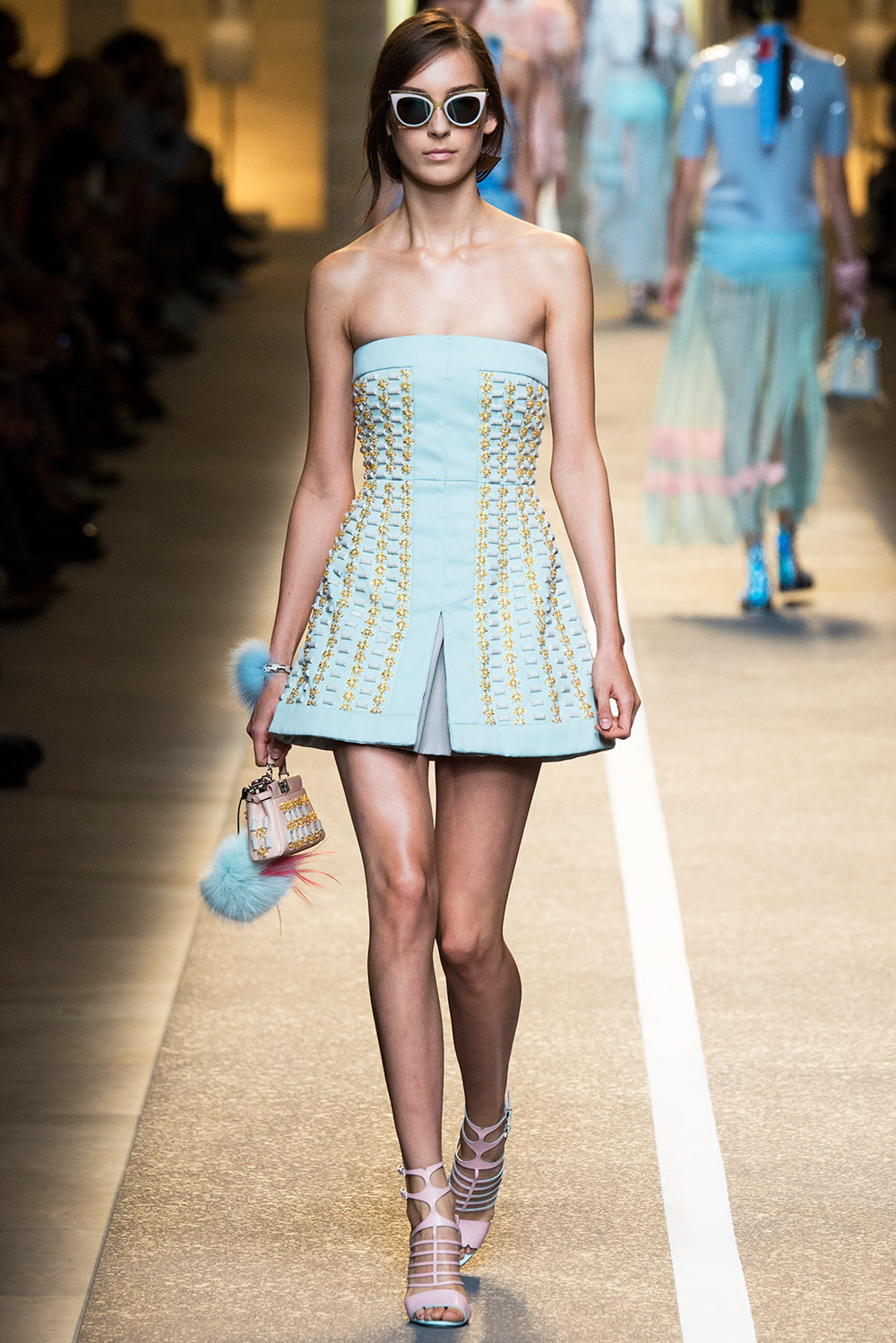 Pantone Colour Report Spring 2015 trends / aquamarine / how to wear aquamarine / outfit ideas / fashion collections S/S 2015 / Fendi Spring 2015 / via fashioned by love british fashion blog