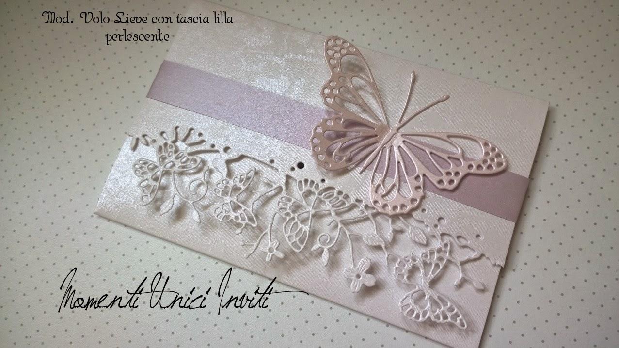 ... Partecipazioni con farfalle intagliate... modello